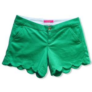 Lilly Pulitzer Buttercup Shorts Myrtle Green 2